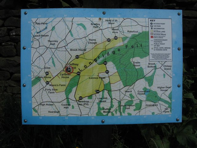 Longridge Fell Access Land Information