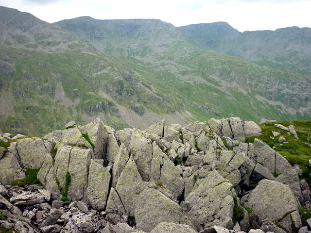Shattered outcrop, Deepdale Hause
