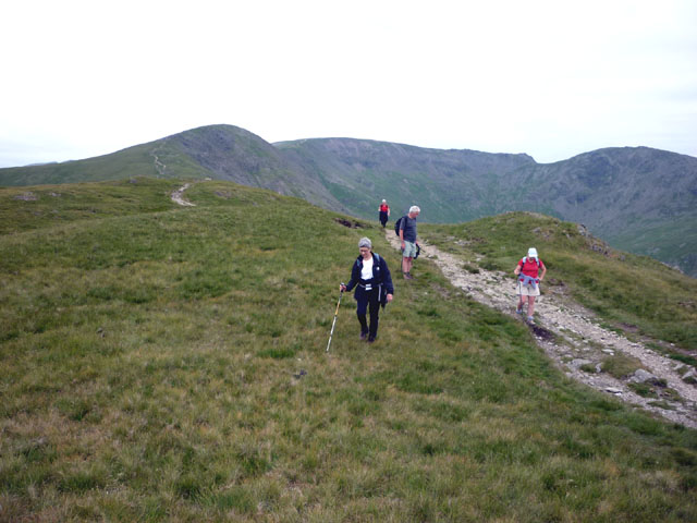 The ridge path between Great Rigg and Heron Pike