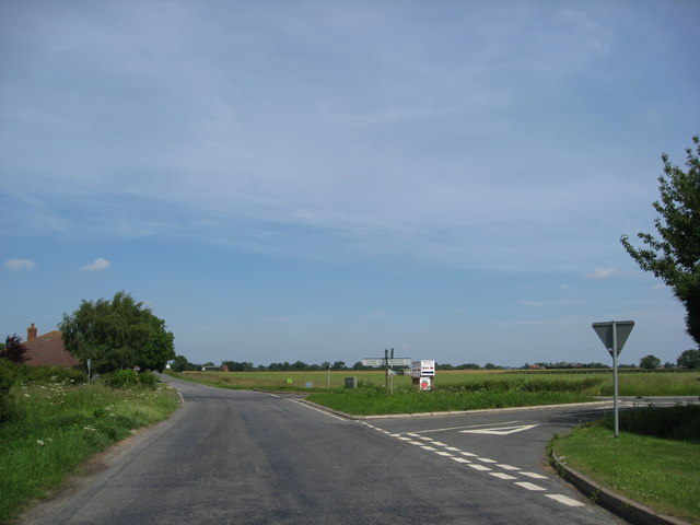 Crossroads near Crossroads farm