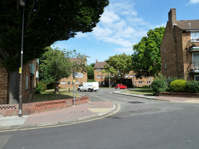 Looking from St Paul's Road into Meadow Street