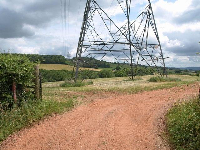 Pylon base south of Bathealton