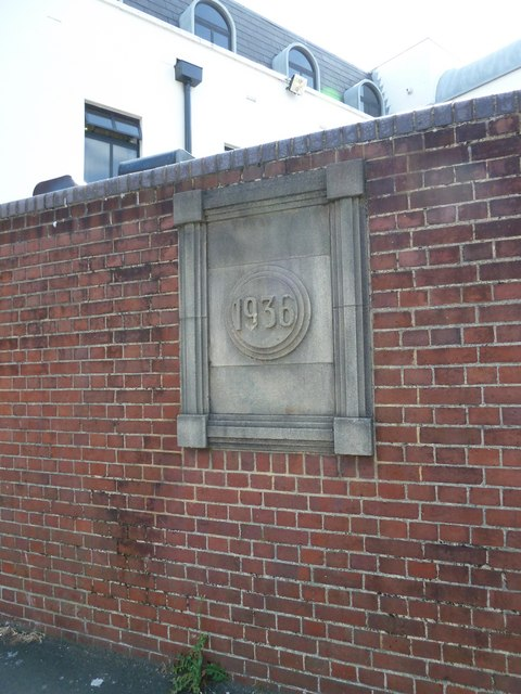 Austere datestone in St Paul's Road