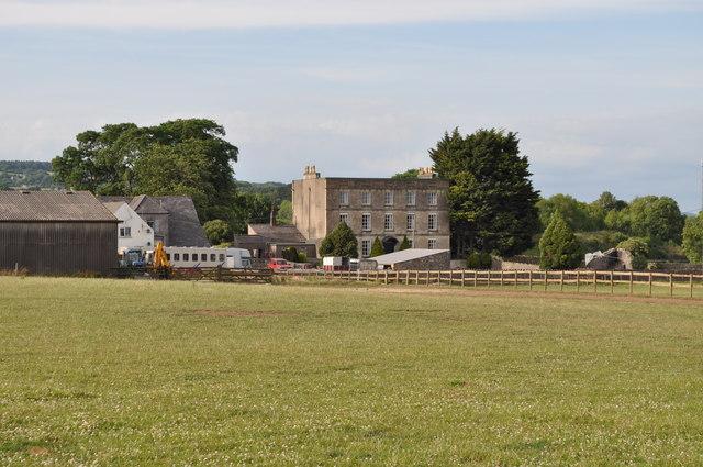 Looking towards Bradley's stables