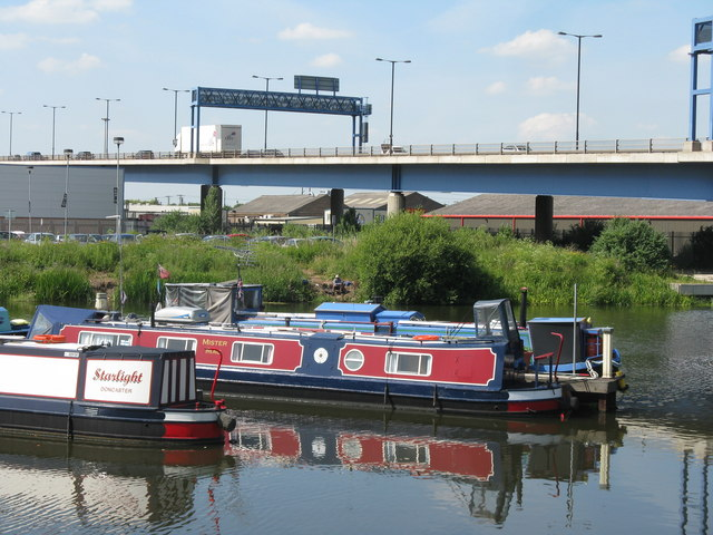 Waterside Canal Basin and the new North Bridge, Doncaster