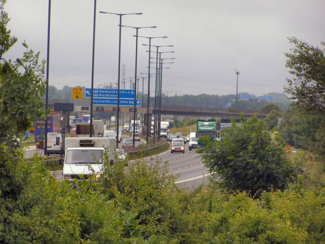 M62 at Whittle Hill