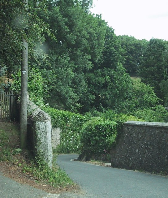 Road drops to Chagford