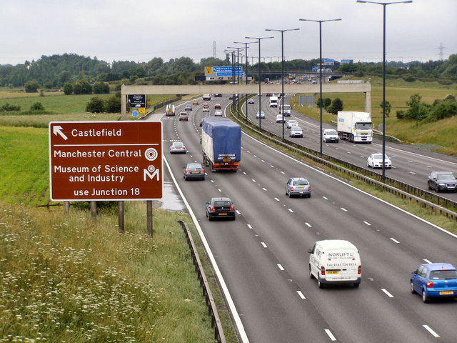 M62 Between Birch and Simister