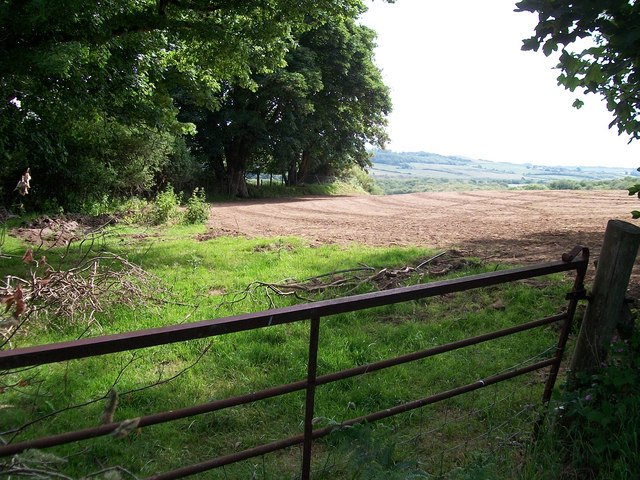 Ploughed field near Lodge Isaf