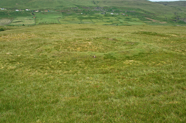 Hut circle south of Glen Uig