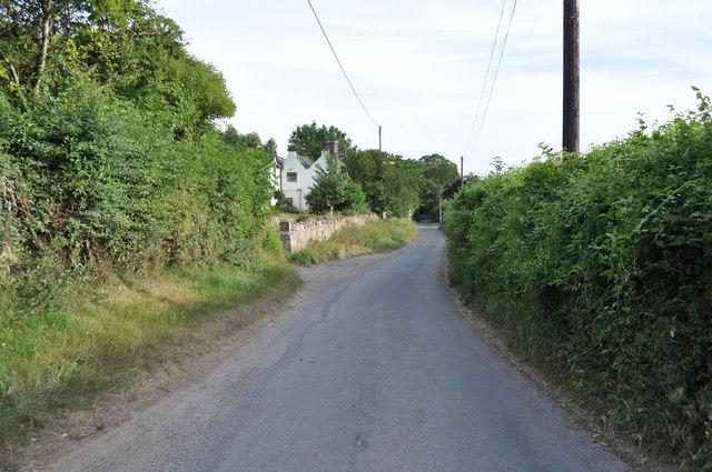 Looking down Sedbury Lane