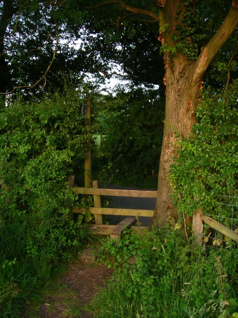 Stile on to Higher Commons Lane