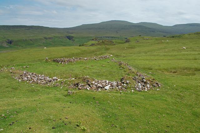 Remains of a fank near the Fairy Glen