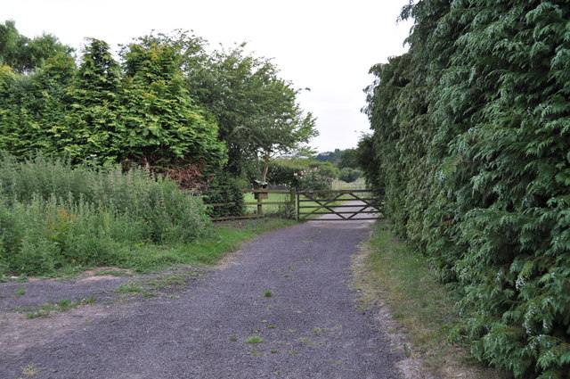 The end of Penn Lane, looking towards Offa's Dyke