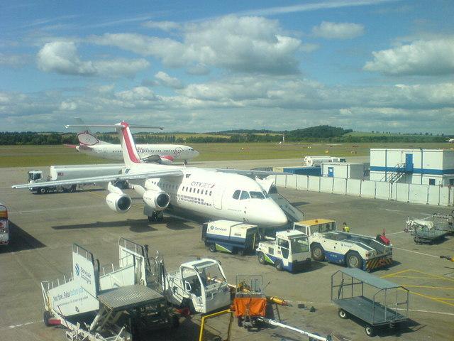 Apron adjacent to main terminal, Edinburgh Airport