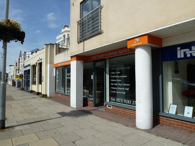 Business premises at the bottom of Landport Terrace