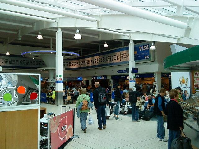 Retail units at Luton Airport