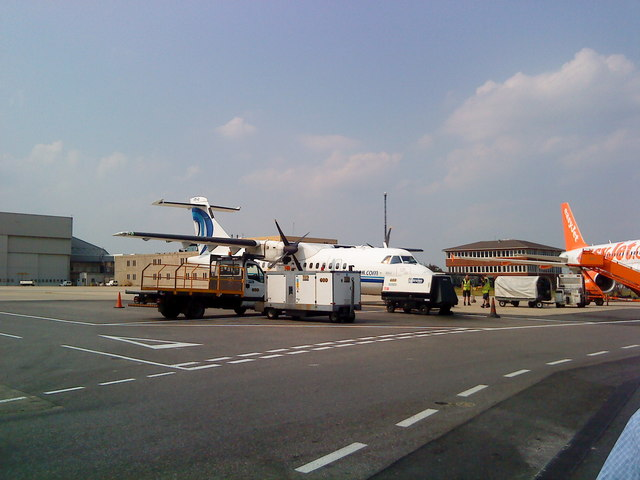 Planes at Luton Airport