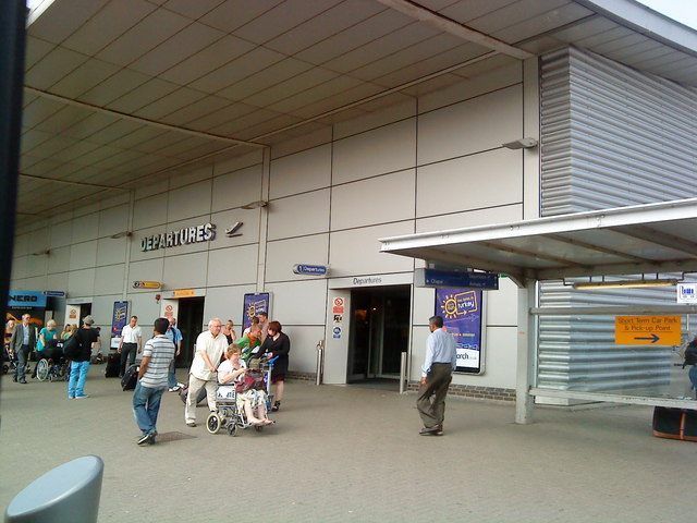Departures at Luton Airport