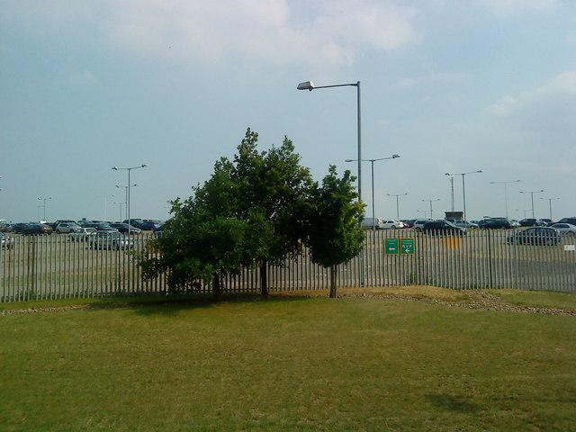 Car park near Luton Airport