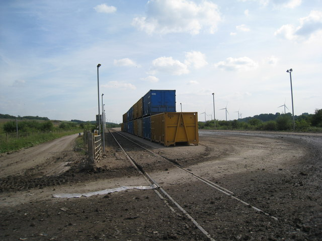 Container unloading area