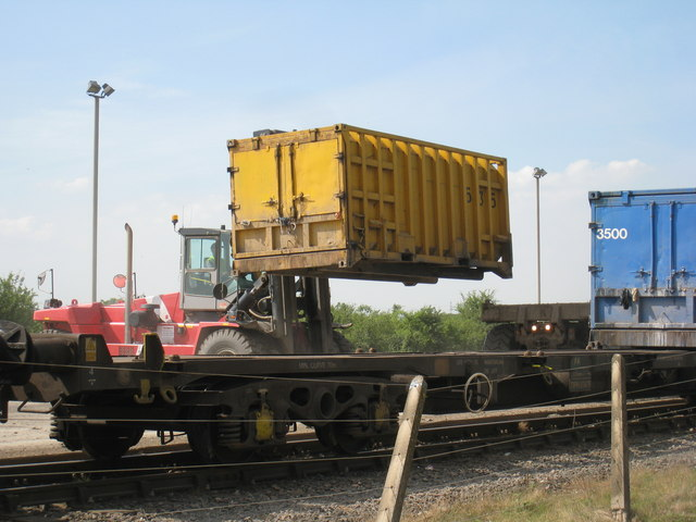 Unloading a container, Roxby