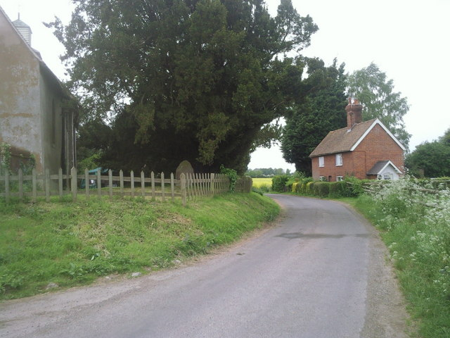Lane by Badlesmere Church