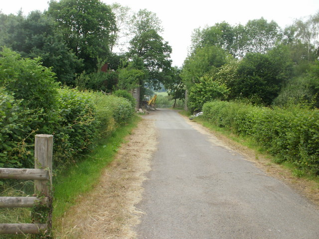 Former section of Hay to Glasbury  road