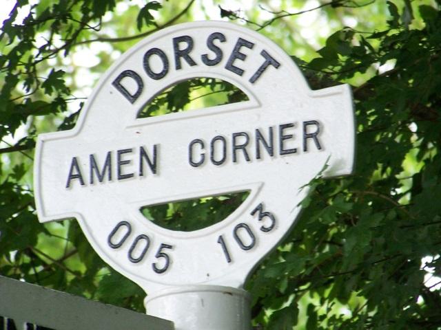 Sign detail, Amen Corner