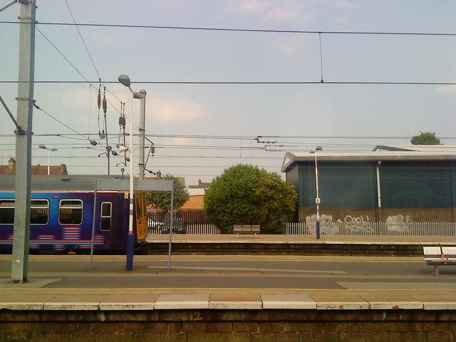 Platform at Bedford station