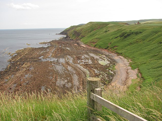 Beach east of Greenheugh Point