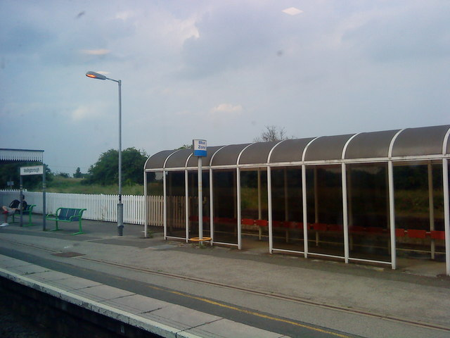 Platform shelter at Wellingborough station