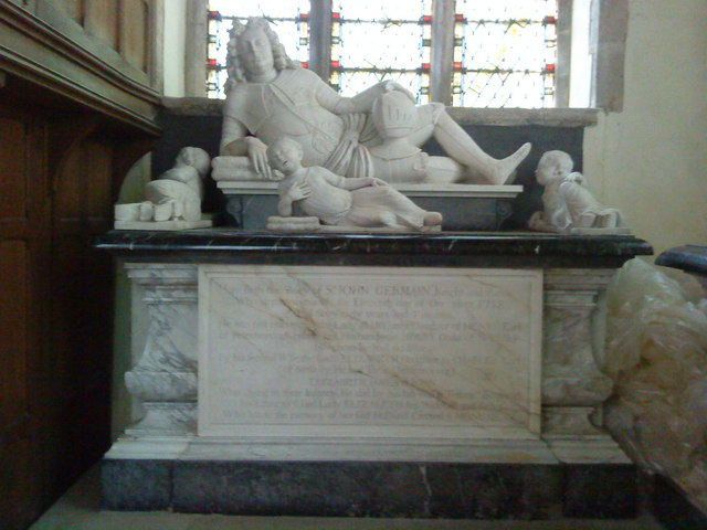 The tomb of Sir John Germain (d.1718)
