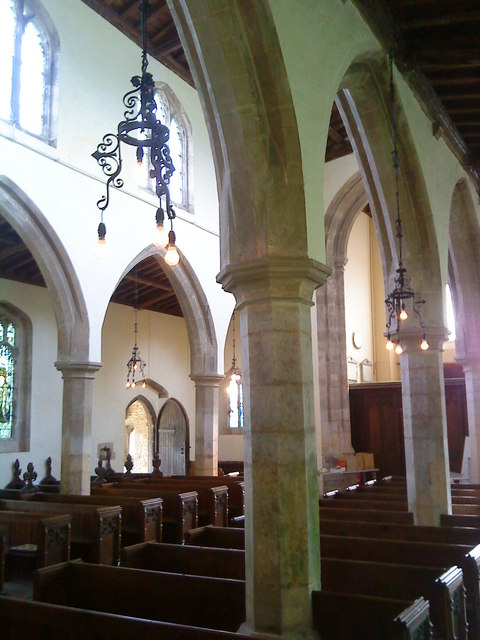 The nave of St. Peter's Church, Lowick