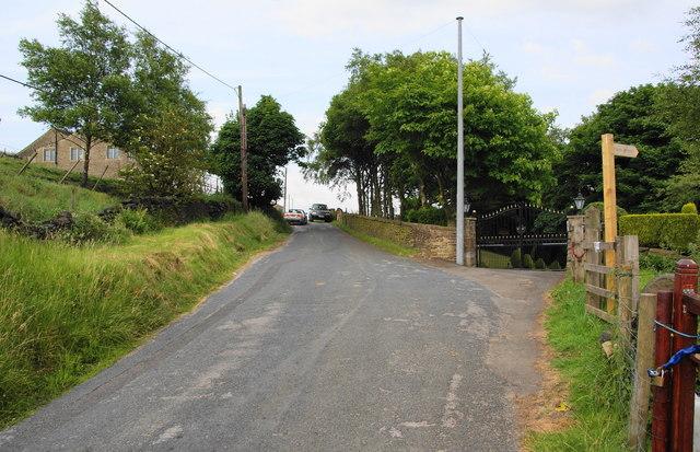 Footpath off Burnedge Lane