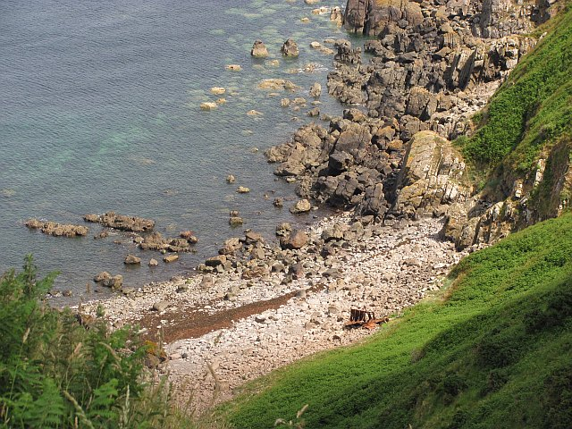Beach below Lansey Bank