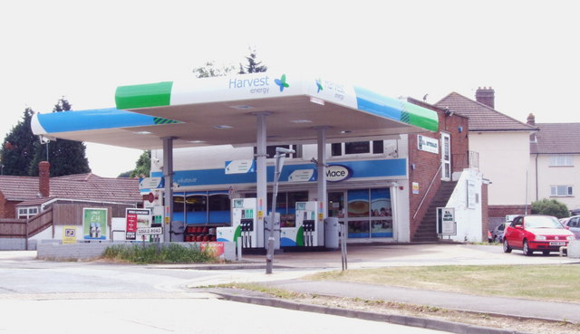 Service station in Lords Wood