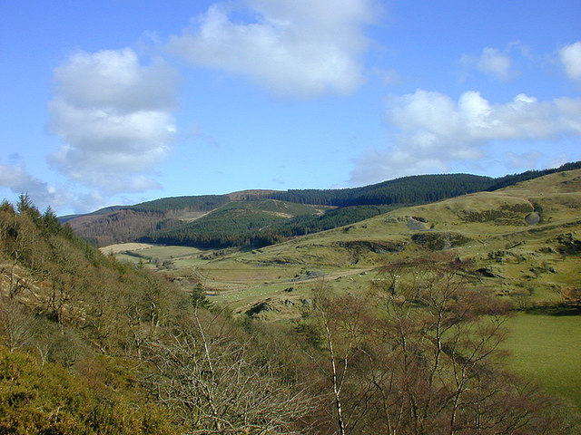 View over the Mynach valley