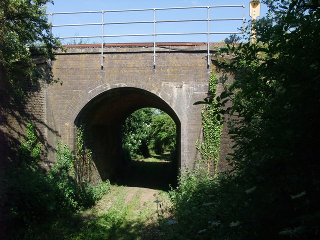 Jurassic Way beneath the East Midlands line to Corby