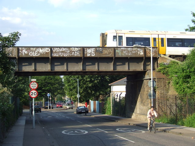 Railway bridge, St Norbert Road SE4