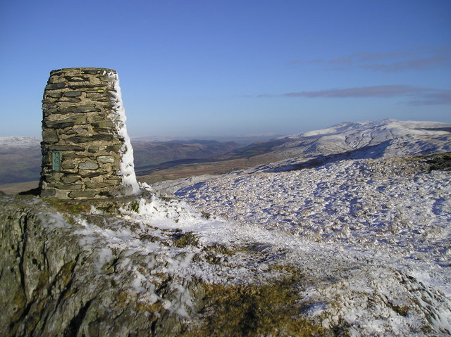 Trig point on Waen Oer