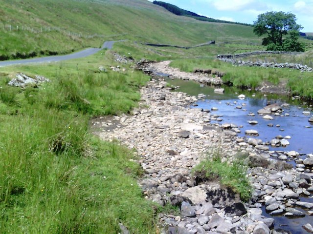 Cotterdale Beck and road to Cotterdale