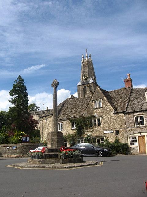 Minchinhampton War Memorial and Holy Trinity Church