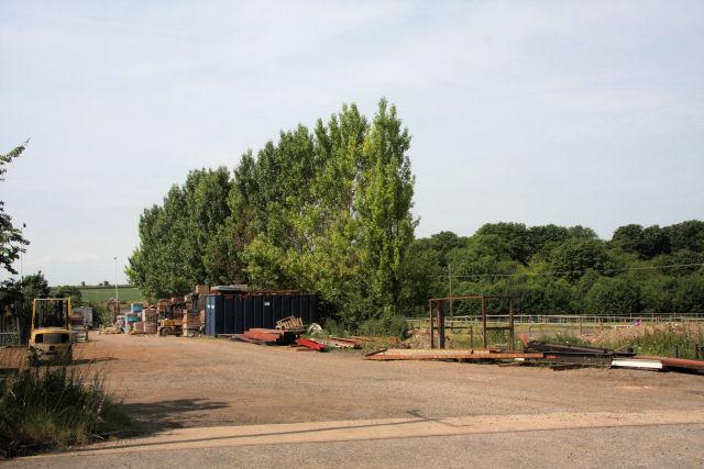 Builder's yard at Springhead Farm
