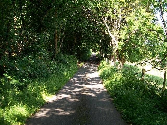 View north-westwards towards the Nant y Gledrydd road junction