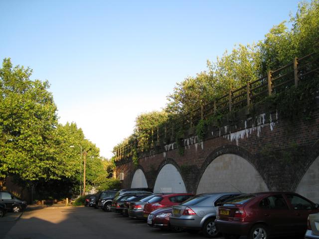 Viaduct by Bath Place car park