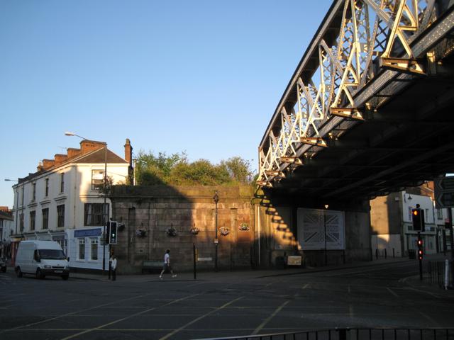 Site of railway bridge, High Street