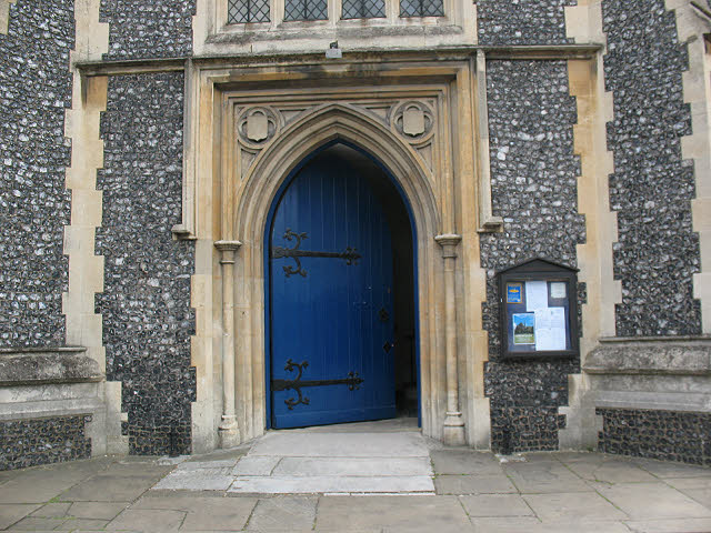 St Mary's church, Wimbledon: entrance