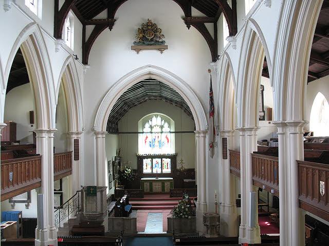 St Mary's church, Wimbledon: interior