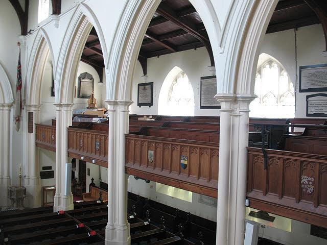St Mary's church, Wimbledon: galleries
